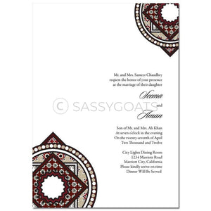 Indian Wedding Invitation - Classy Corners