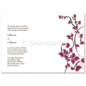 Indian Wedding Invitation - Eastern Stems