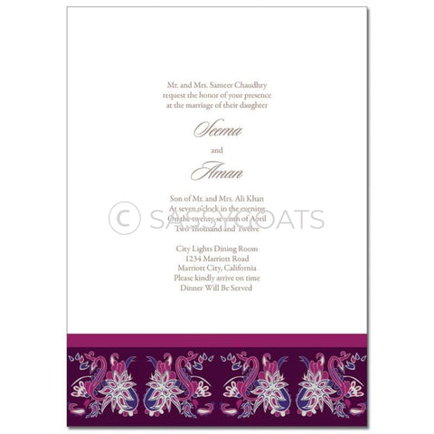 Indian Wedding Invitation - Enchanting Birds