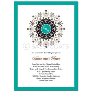 Indian Wedding Invitation - Enchanting Emblem