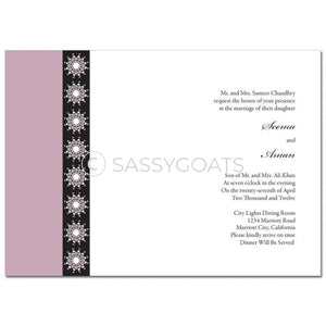 Indian Wedding Invitation - Formal Bar