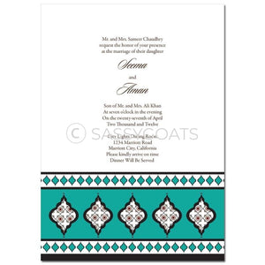 Indian Wedding Invitation - Framed Lanterns