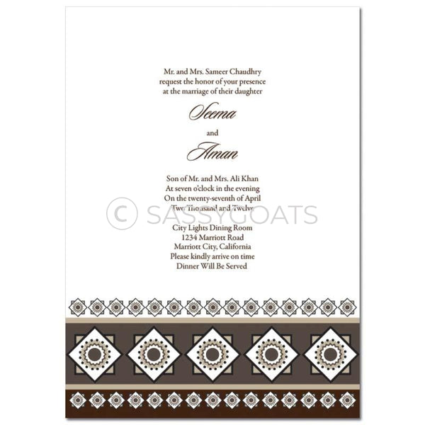 Indian Wedding Invitation - Magestic Tile