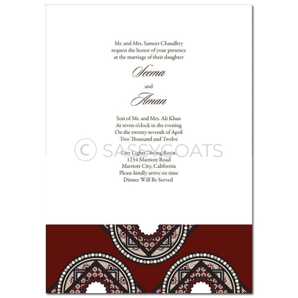 Indian Wedding Invitation - Mystic Mosaic