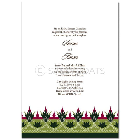 Indian Wedding Invitation - Regal Border
