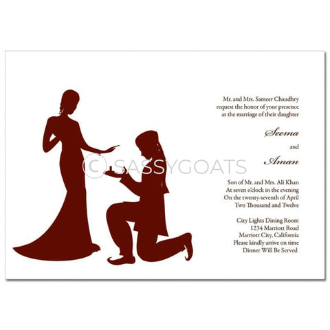 Indian Wedding Invitation - Regal Silhouette