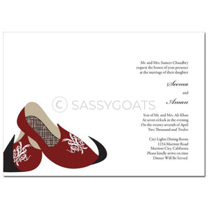 Indian Wedding Invitation - Royal Slippers