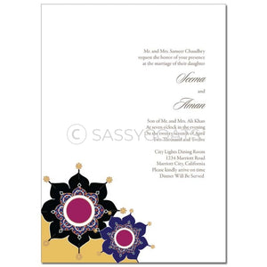Indian Wedding Invitation - Sparkly Pendants