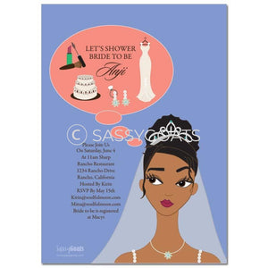 Online Invitation - African American Bridal Shower Digital Planner