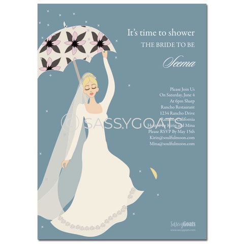 Online Invitation - Blonde Bridal Shower Digital Flower