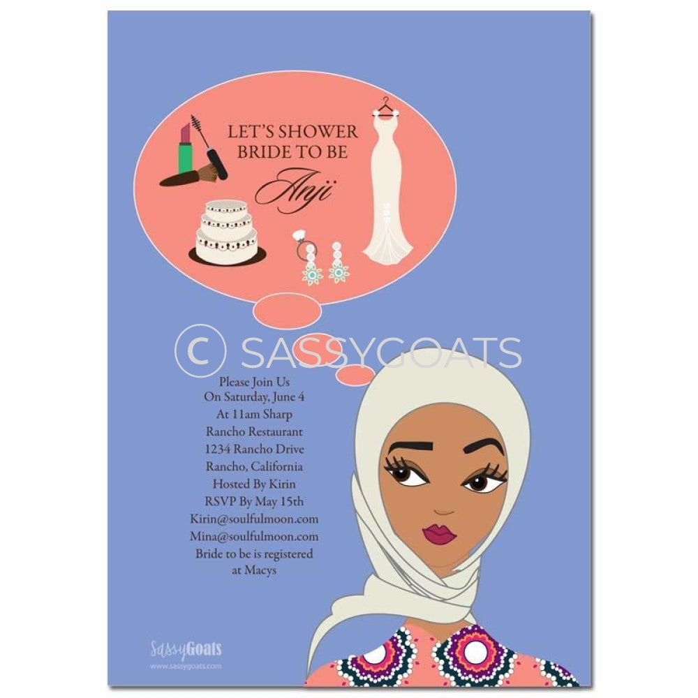 Online Invitation - Hijab Bridal Shower Digital Planner