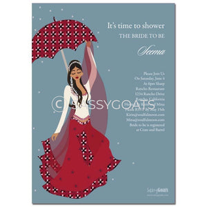 Online Invitation - Indian Bridal Shower Digital Flower