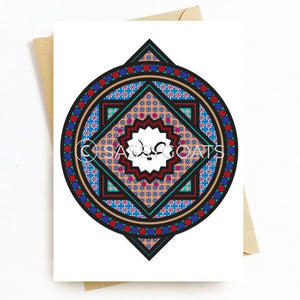 Personalized Eid Card - Stained Glass