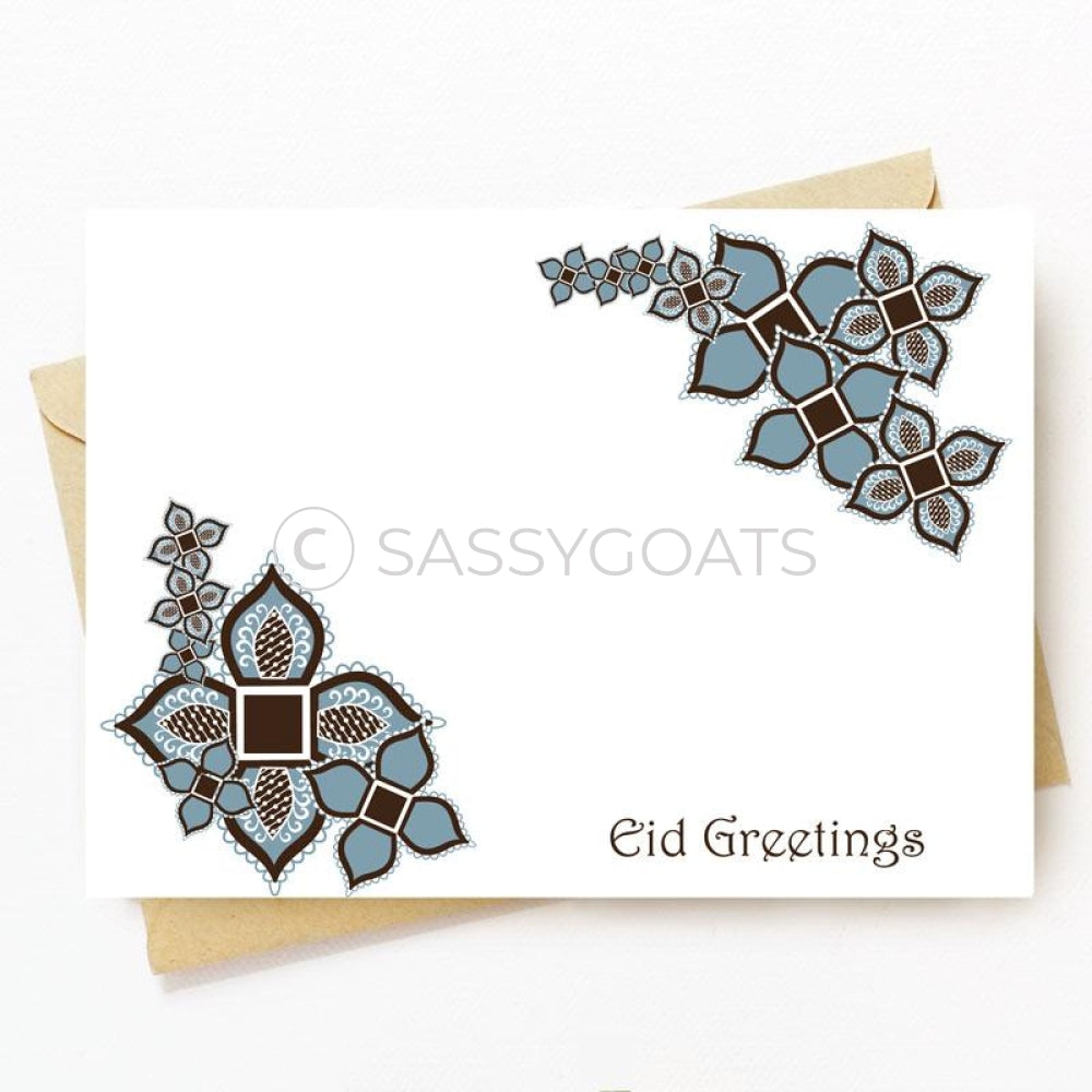 Personalized Eid Card - Vintage Lace