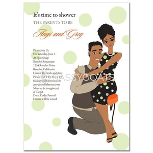 Test African American Baby Shower Invitation - Hugs