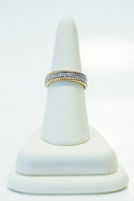 14K 2 Tone Ladies Diamond Band
