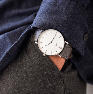 Ulriken White Silver with Salmon Leather Strap