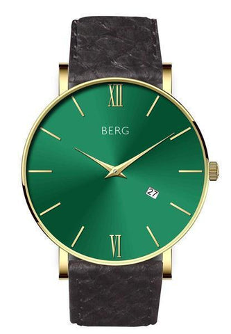 Ulriken Green Gold with Salmon Leather Strap