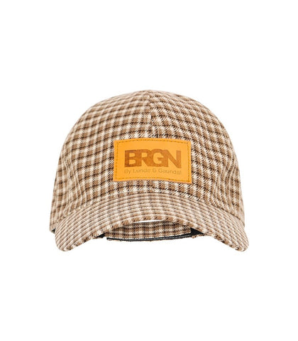 BRGN Unisex Brown Plaid Cap