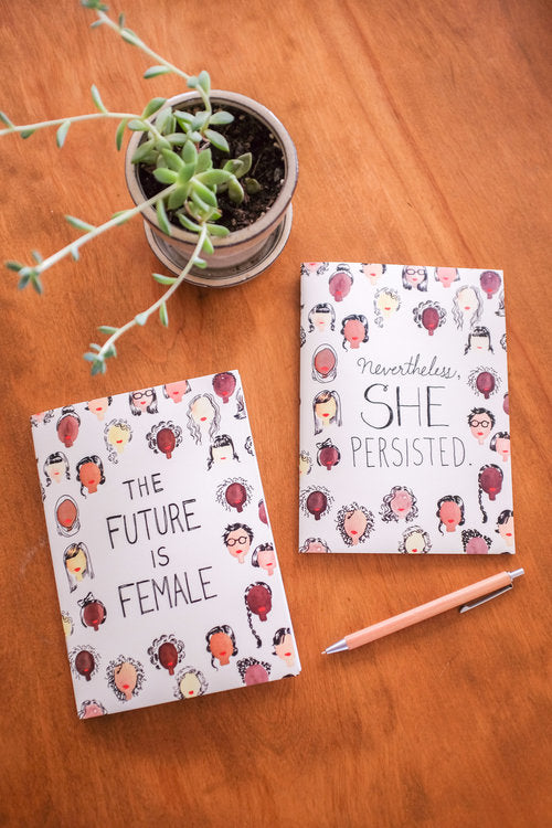 2-Pack Notebook Set: The Future is Female + Nevertheless, she Persisted