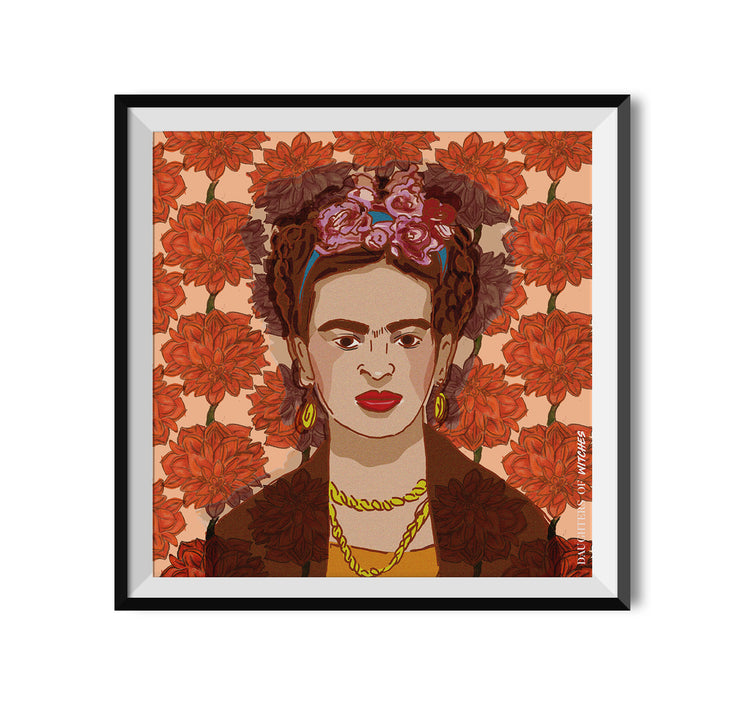 Witch Frida Kahlo Poster