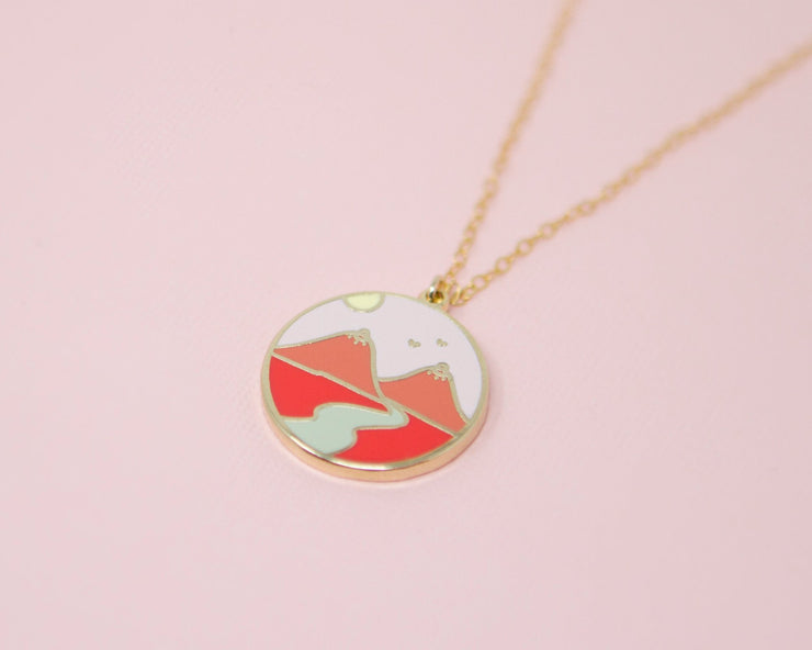 Boob Mountains Charm Necklace