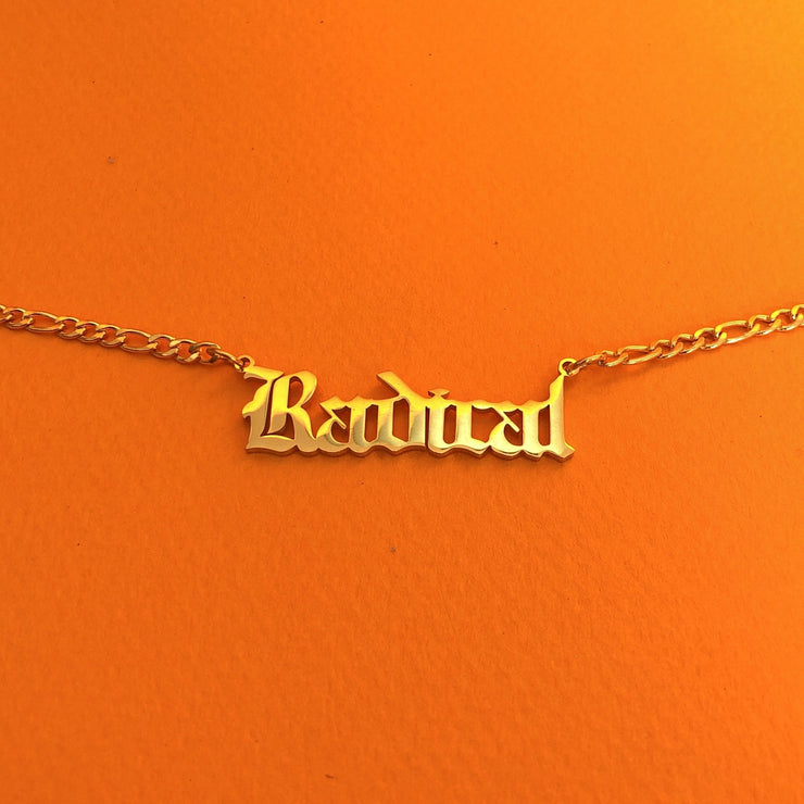 """Radical"" 18K Gold plated choker necklace"