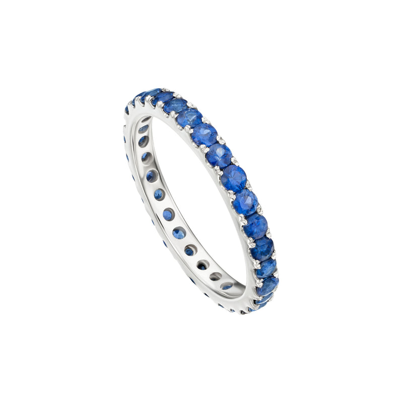 Gold and Blue Sapphire Band