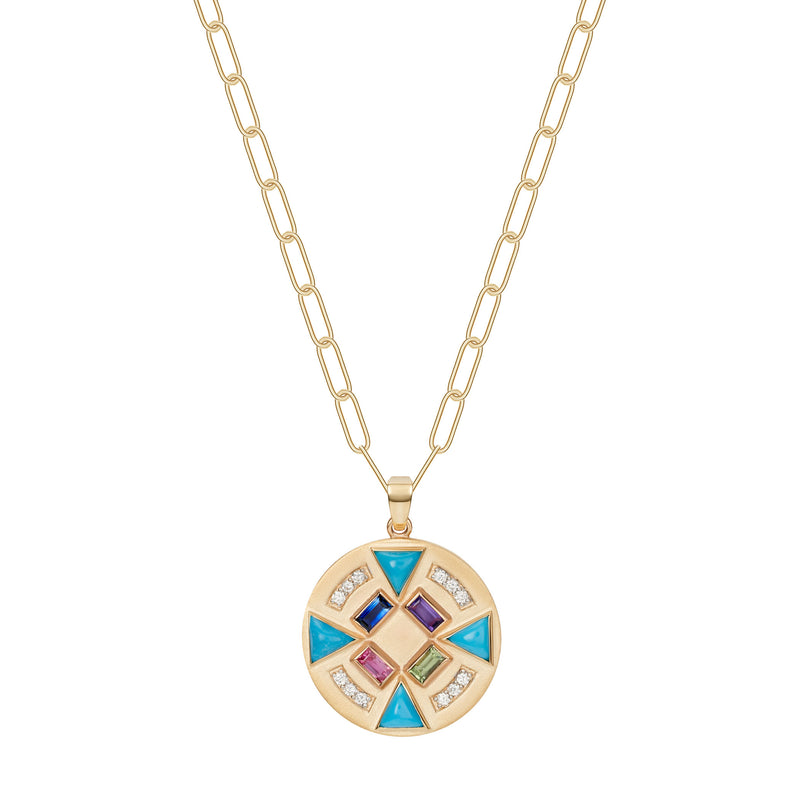 Geometrical Pendant in Gold