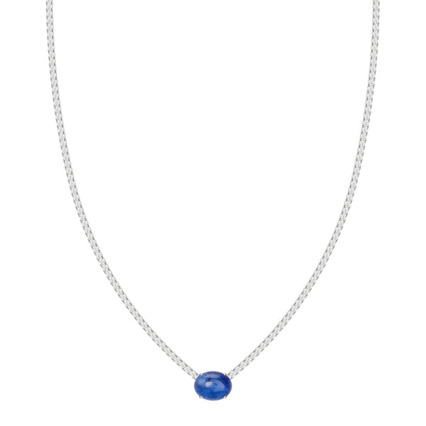 Blue Tanzanite Tennis Necklace