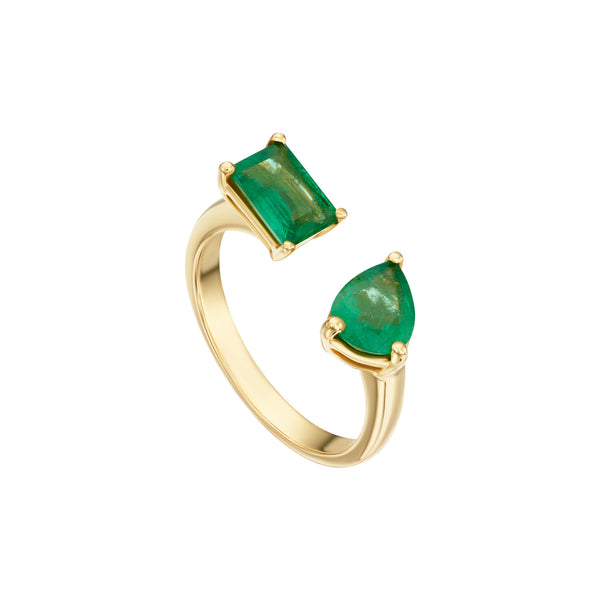 Fancy Shapes Emerald Ring