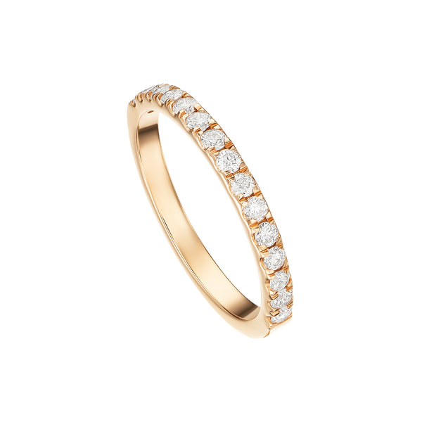 Rose Gold Thin Diamond Band
