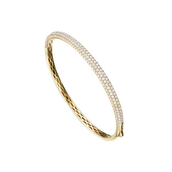 Yellow Gold Five Row Bangle