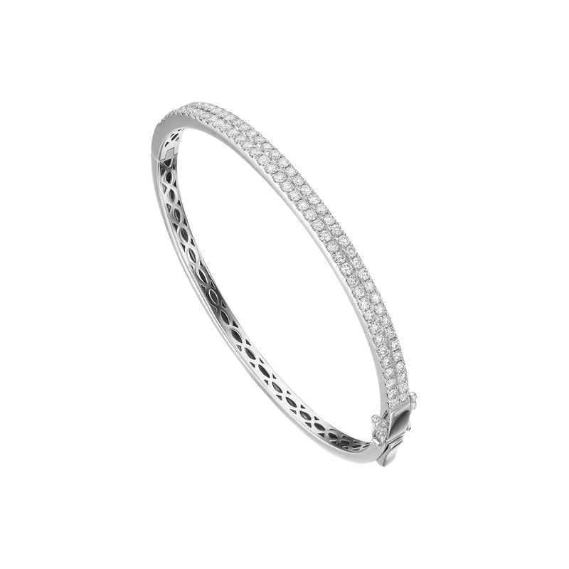 White Gold and Diamond Bangle