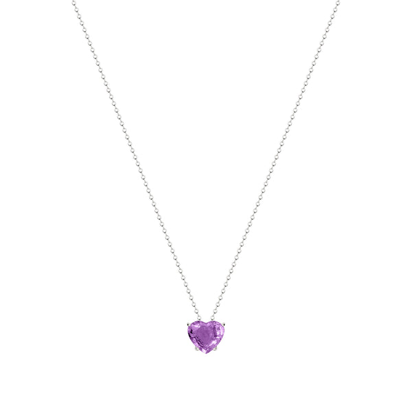 Purple Tourmaline Heart Pendant