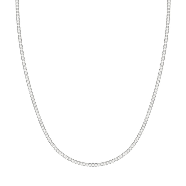 Classic Four Pronged Tennis Necklace