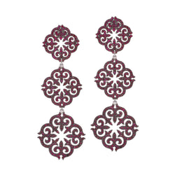Three Piece Ornamental Earrings