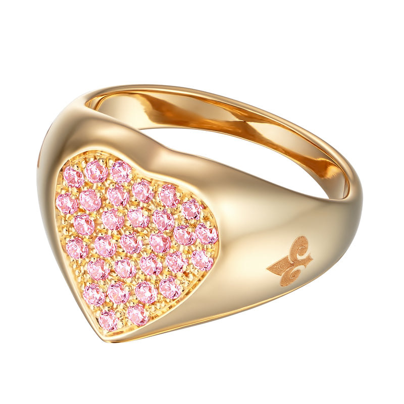 Mila Heart Signet Ring