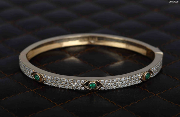 Green Evil Eye Bangle