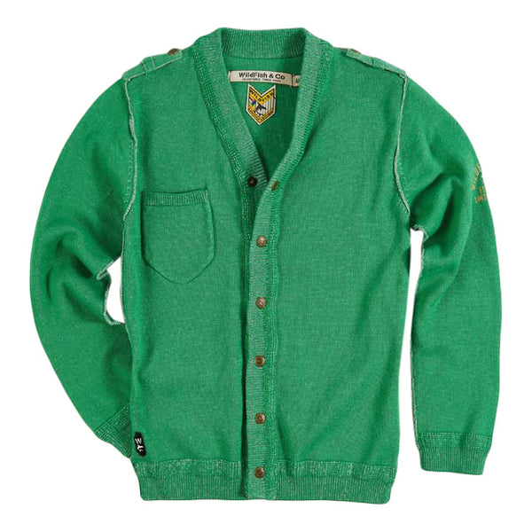 Curtis Cardigan Deep Green