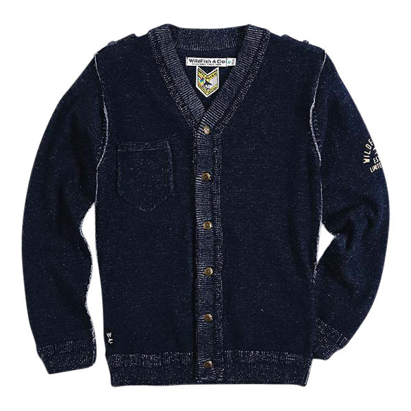 Curtis Cardigan Denim Blue