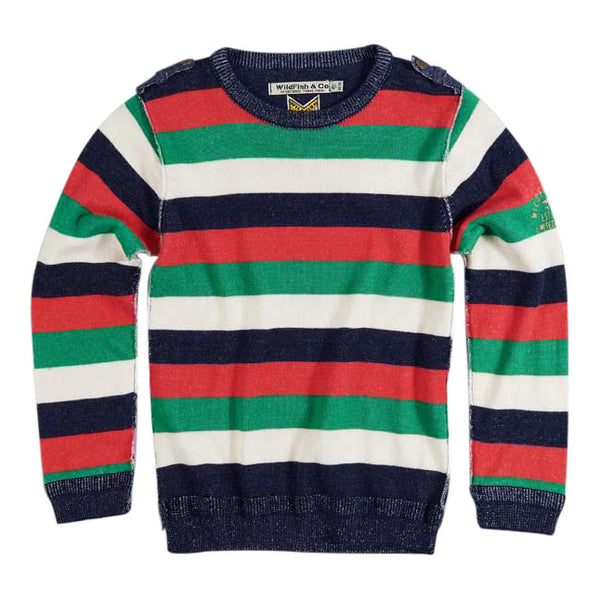 Mick Pullover 4 colour stripe
