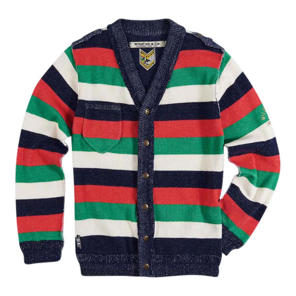 Skip Cardigan 4 Colour Stripe