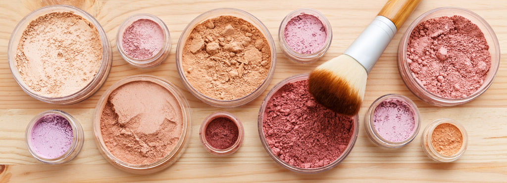 Mineral Makeup, arrowroot powder, mica, oxides, clays