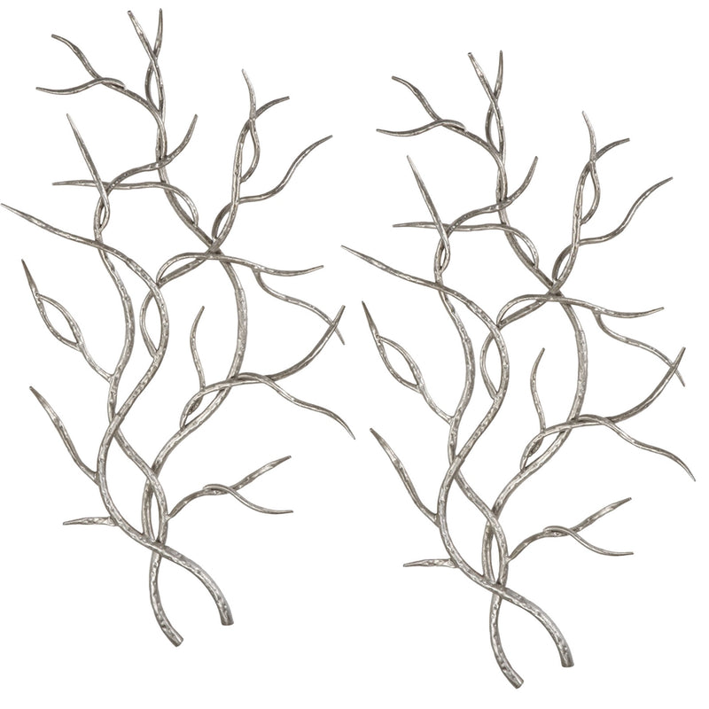 Silver Branches Set of Two