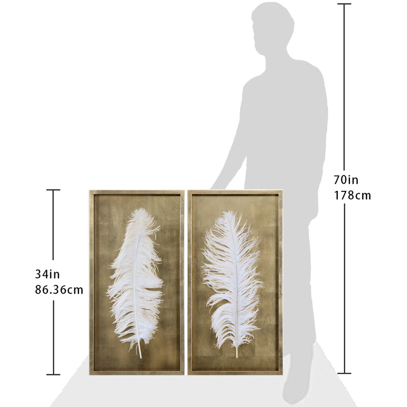 White Feathers Set of Two