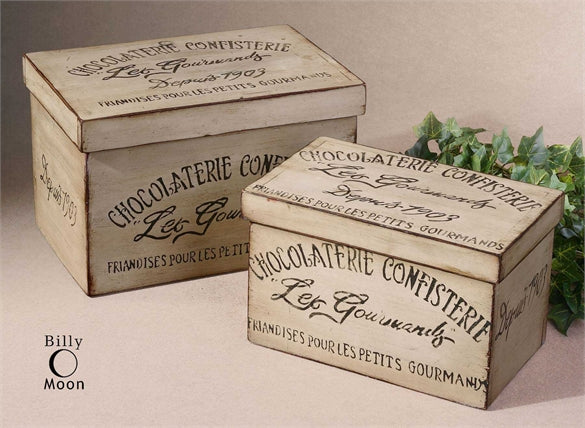Chocolaterie Boxes Set of Two