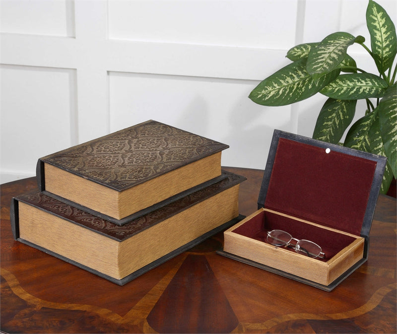 Script Boxes Set of Three