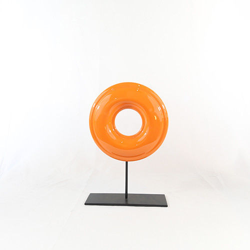 Light Gold Circle on Black Stand