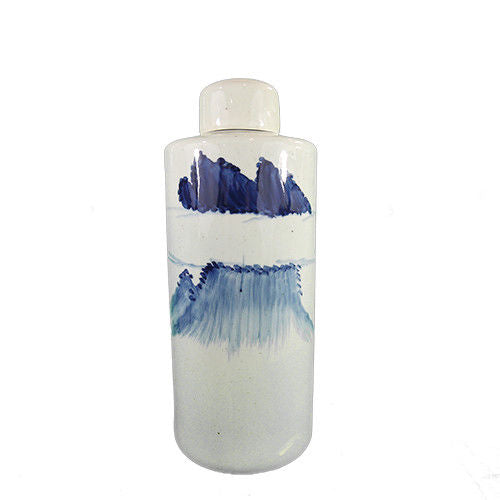 Blue Ceramic Hand Painted Bottle With Lid Ⅲ